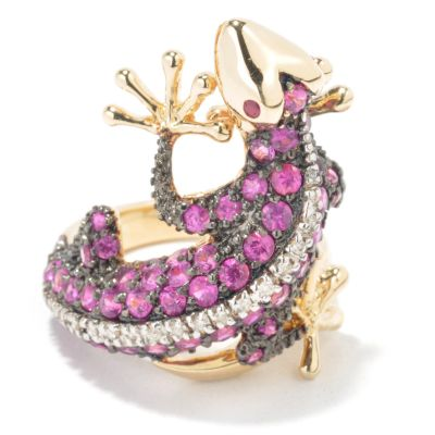 14K Gold Ruby & Diamond Lizard Ring $ 1285.00