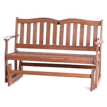 ShopNBC - Balau Wood Two Person Gliding Bench - $89.98
