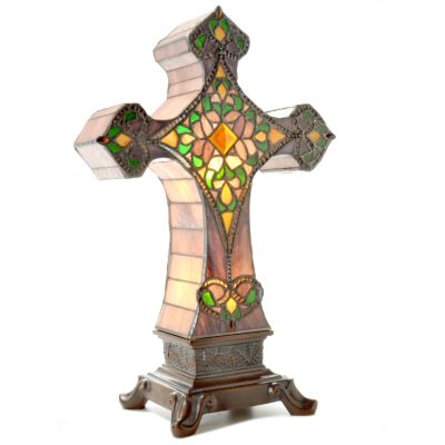 Lucia's Stained Glass Cross Lamp. $ 84.75
