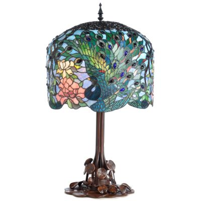 Fantastic Feodora's Peacock Table Lamp. $ 399.17