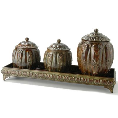Set of 3 Decorative Bishop Boxes w/ Tray $ 30.88