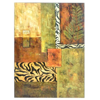 Abstract Animal Print & Leaf Iron Wall Panel. $ 51.04