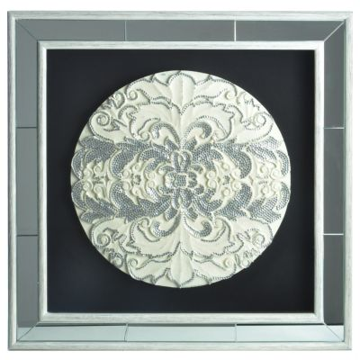 Ornate Medallion Framed & Mirrored Wall Decor. $ 179.38