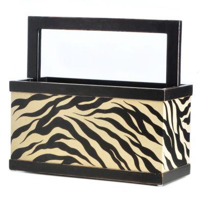 Hand-Painted Tiger Print Magazine Storage Box. $ 45.66