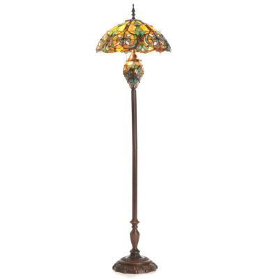 64' Victorian-Style Stained Glass Double-Lit Floor Lamp. $ 172.49
