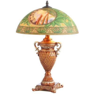 Alphonse Mucha-Inspired Hand-Painted Table Lamp. LA PLUME $ 153.89