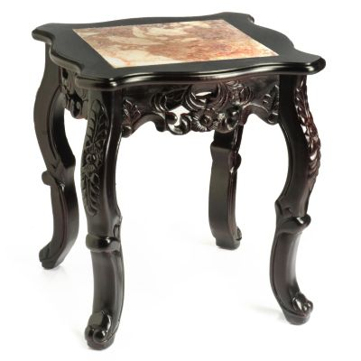 Tavin Hand-Carved Marble Top End Table. $ 134.75