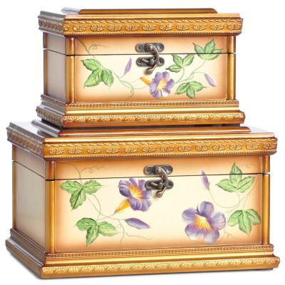 Apona Hand Painted Keepsake Boxes - Set of Two. $ 71.75