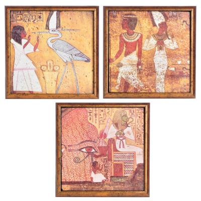 Egyptian Style Wall Art - Set of Three. $ 92.50