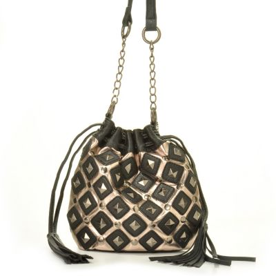 Carlos by Carlos Santana Stud & Tassel Detail Cross Body Handbag. BLACK $ 49.86