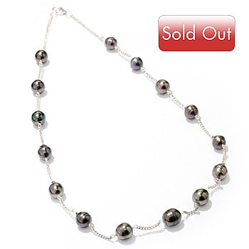 111-498 - 20'' 8-9mm Tahitian Cultured Pearl Station Necklace