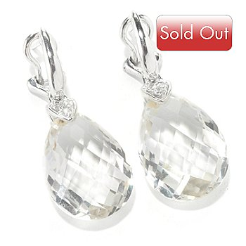 112-723 - Omar Torres ''Honeysuckle'' 24.75ctw Quartz Briolette Drop Earrings