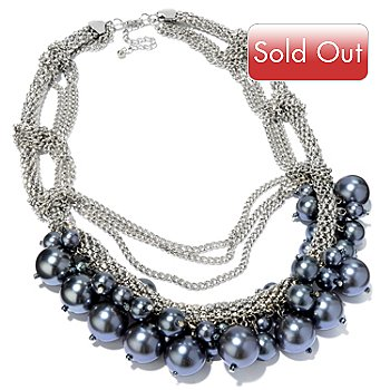 113-101 - Ciro Royale Fashion Pearl and Chain Necklace
