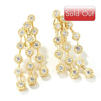 114-009 - Sonia Bitton for Brilliante® 2.52 DEW Round Cut Drop Earrings