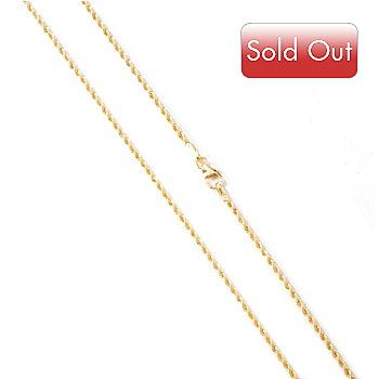 114-034 - Viale18K® White or Yellow Gold 18'' Rope Chain Necklace