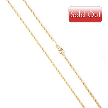 114-035 - Viale18K® Italian Gold 20'' Polished Rope Chain Necklace