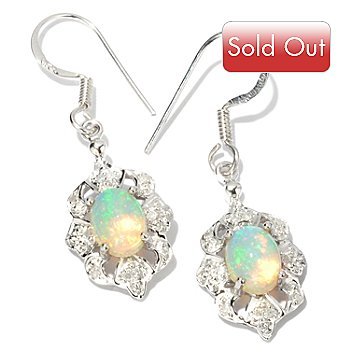 114-562 - Gem Insider Sterling Silver 8x6mm Ethiopian Opal Earrings w/French Hooks
