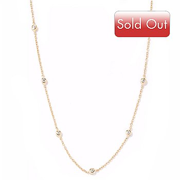 114-626 - Sonia Bitton for Brill 18'' 1.12 DEW Bezel Set Station Necklace