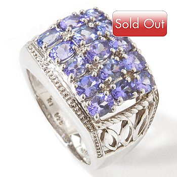 114-739 - NYC II 2.64ctw Tanzanite 3-Row Band Ring