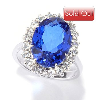 114-928 - Gem Treasures Sterling Silver ''Royal Dreams'' Quartz Doublet Ring