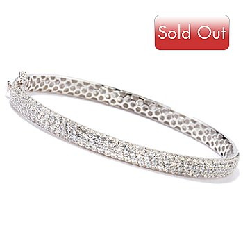 115-674 - Sonia Bitton for Brilliante® 7'' or 8'' Platinum or Gold Embraced Pave Bracelet
