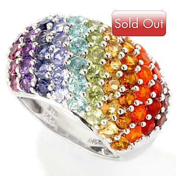 115-770 - NYC II 3.36ctw Exotic Rainbow Multi-Gemstone Ring