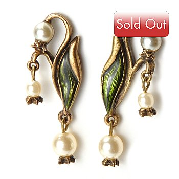 115-862 - Sweet Romance™ Nouveau Inspired Lily of the Valley Earrings
