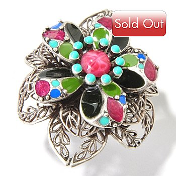 115-941 - Sweet Romance™ 1940's Inspired Dawn Flower Filigree Ring