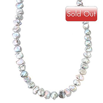 116-001 - 52'' 11-12mm Blue Grey Keishi Cultured Pearl Endless Necklace
