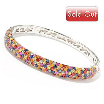 116-275 - EFFY Sterling Silver 10.07ctw ColorsofSapphire Confetti Bangle