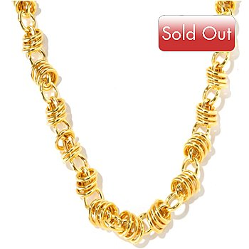 116-519 - Milano Luxe Gold Embraced™ 22'' Status Link Necklace