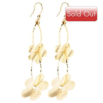 116-769 - 14K Gold Scent of Daisies Drop Earrings