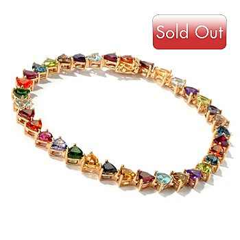 116-958 - NYC II Trillion Cut Multi Gemstone ''Kaleidoscope'' Tennis Bracelet