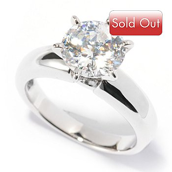117-023 - Brilliante® Platinum Embraced™ 100-Facet Solitaire Ring