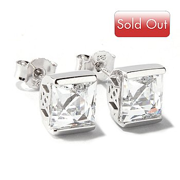 117-404 - TYCOON for Brilliante® Platinum Embraced™ Tycoon Cut Stud Earrings