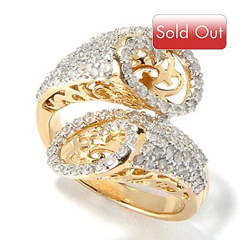 117-588 - Beverly Hills Elegance 14K 1.25ctw Bypass Cut-Out Diamond Ring