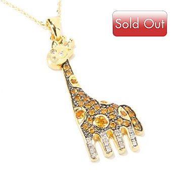 117-858 - NYC II Giraffe Multi-Gemstone Pendant w/Chain