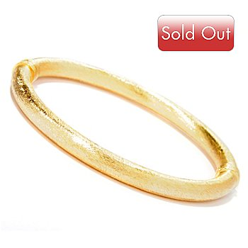 118-303 - Portofino Gold Embraced™ Satin Finished Hinged Bangle Bracelet