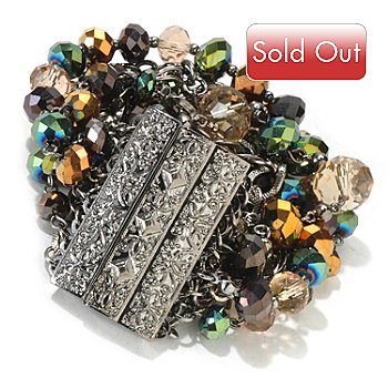 118-323 - The Find Jewelry By Annie G. Crystal Bedazzle 8.25'' Bracelet w/ Magnetic Clasp