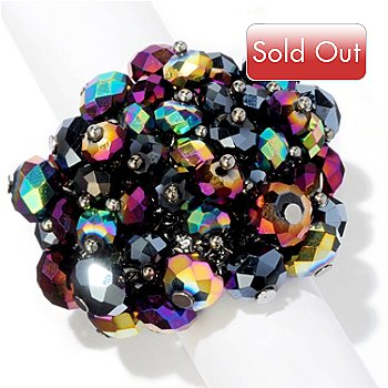 118-350 - The Find Jewelry By Annie G. Crystal Bedazzle Adjustable Ring