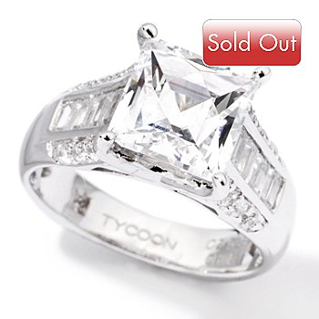 118-590 - TYCOON for Brill Platinum Embraced[ 3.70 DEW Square Cut Ring