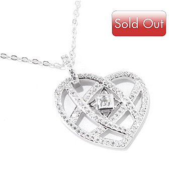118-611 - TYCOON for Brill Platinum Embraced[ 1.29 DEW Heart Pendant w/ 18'' Chain