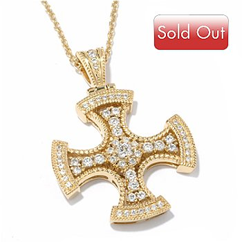 119-354 - Sonia Bitton for Brilliante 1.15 DEW Cross Pendant w/ 18'' Chain