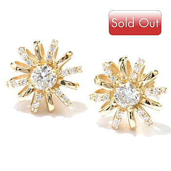 119-359 - Sonia Bitton for Brilliante® Flower Stud Earrings