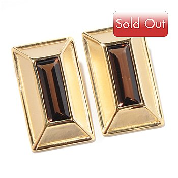 119-475 - Milano Luxe Gold Embraced™ Quartz Baguette Rectangle Earrings
