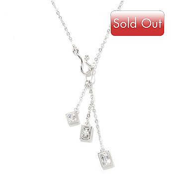 119-881 - TYCOON for Brilliante® Platinum Embraced™ 18'' 1.07 DEW Three-Drop Necklace