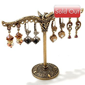 119-981 - Sweet Romance™ Gold-tone Earring Tree & Set of Four Earrings