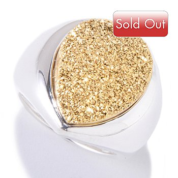 120-053 - SempreSilver™ 18 x 13mm Pear Shaped Drusy Ring