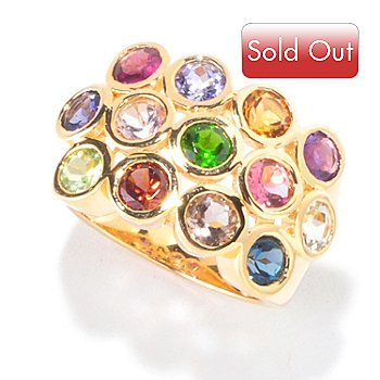 120-358 - NYC II 3.55ctw Bezel Set Multi Gemstone Ring