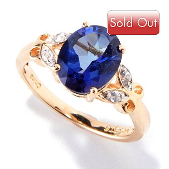 120-359 - NYC II Iolite Purple Quartz & White Zircon Ring